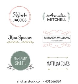 Vector design elements, business signs, logos. Floral logo templates. Vector illustration.