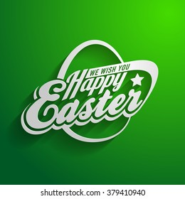Vector design elements of greeting  happy easter card logo template