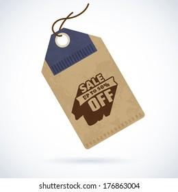 Vector design elements of sale label on vintage paper tag