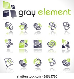 Vector design elements. Set 14.