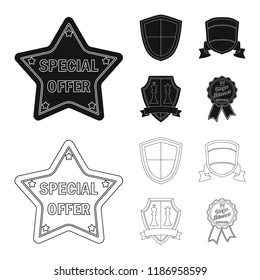 Vector design of emblem and badge icon. Collection of emblem and sticker stock vector illustration.