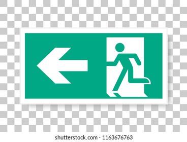 vector design of emergency escape sign