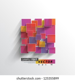 Vector Design - eps10 Colorful Overlapping Squares Concept Illustration