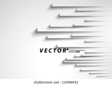 Vector Design - eps10 Overlapping Thick Lines Concept Illustration