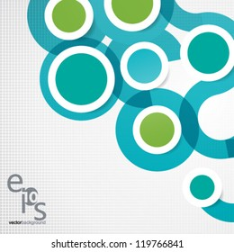 Vector Design - eps10 Simple and Colorful Circles Background
