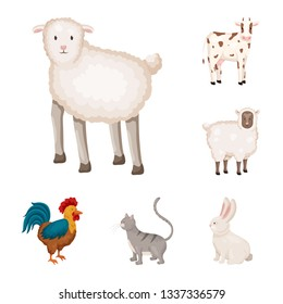 Vector design of farm and food logo. Collection of farm and countryside stock symbol for web.