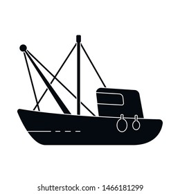 Vector design of fishery and trawler icon. Collection of fishery and tug stock symbol for web.