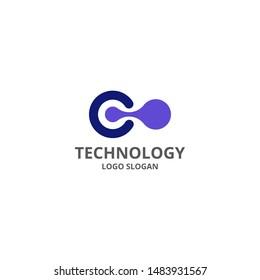 Vector design flat logo technology. Use for web, company, logo, icon.