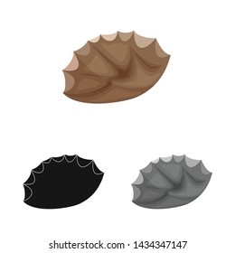 Vector design of flint and sharp icon. Set of flint and evolution stock symbol for web.