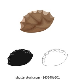 Vector design of flint and sharp sign. Collection of flint and evolution stock symbol for web.