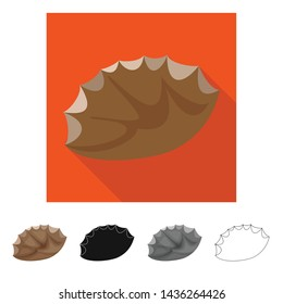 Vector design of flint and sharp sign. Set of flint and evolution vector icon for stock.