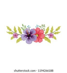 Vector design floral decoration