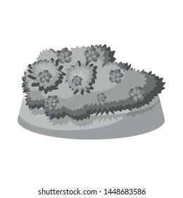 Vector design of flowerbed and garden symbol. Set of flowerbed and bush vector icon for stock.