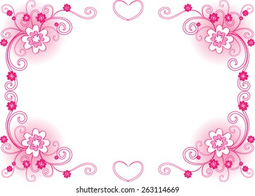 Pink Borders Images, Stock Photos & Vectors | Shutterstock
