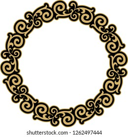 Vector design frame template, for photography or art drawings . Ornament element for design in Ottoman style, place for text. It is used as wall decoration, wall plate, photo frame, gift card.