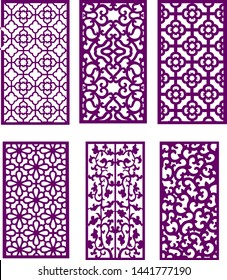 Vector design for furniture carving door design and plywood partition foam, acrylic and cnc machine cutting or carpenter work.
