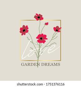 Vector design garden pink peach lavender creamy Rose flower designer element set