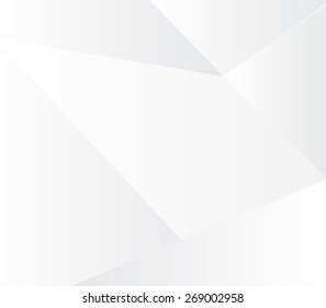 Vector design Geometric white & grey abstract  background.