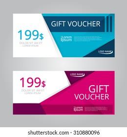 Vector design for Gift Voucher
