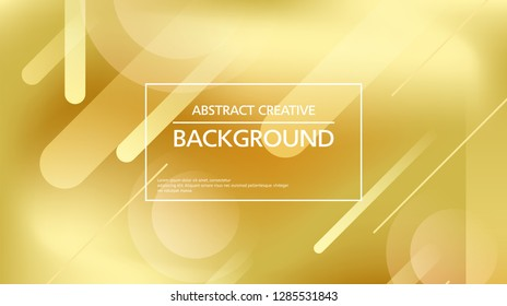 Vector design of golden background with abstract lines and spots