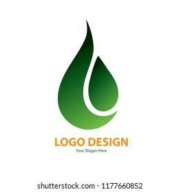 Vector design green water for logo template