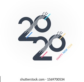 Vector design Happy new year 2020 banner background.