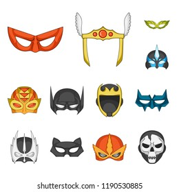 Vector design of hero and mask icon. Collection of hero and superhero stock vector illustration.