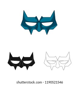 Vector design of hero and mask logo. Collection of hero and superhero stock symbol for web.