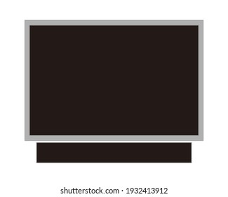 vector design illustration of led lcd television monitor. black board design, suitable for writing background designs