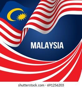 Vector design illustration of Malaysia flag
