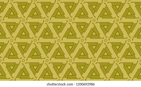 Vector design. Illustration with triangles line. Modern decorative background. dirty orange color. seamless.
