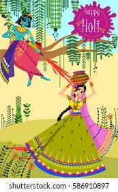 Radha Krishna Holi Images Stock Photos Vectors Shutterstock