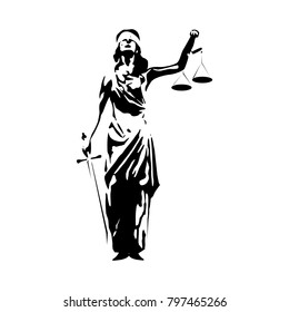 vector design with lady justice theme related to the theme of law and justice. joeg and eps format.