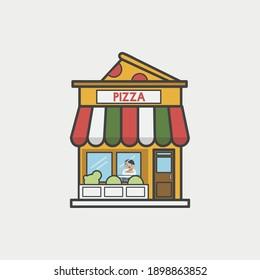 Vector design - Landmark restaurant pizza store