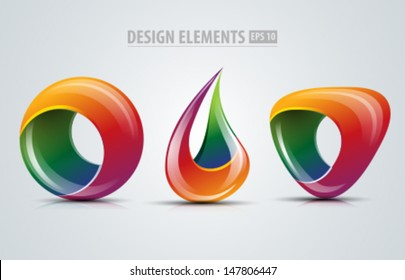 Vector design logo elements