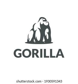 vector design logo gorilla. logo template