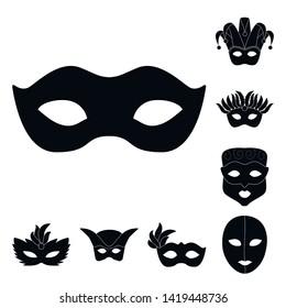 Vector design of luxury and celebration icon. Collection of luxury and hide  vector icon for stock.