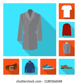 Vector design of man and clothing icon. Collection of man and wear stock vector illustration.