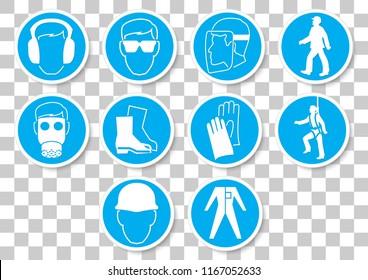 vector design of mandatory icon set