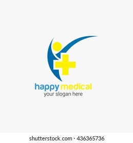 Vector Design Medical health-care logo template. Flat Style design