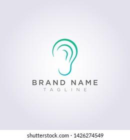 Vector Design of Modern Ear Logo Icons.