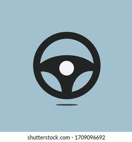 Vector design of a modern flat wheel car icon