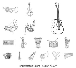 Vector design of music and tune logo. Collection of music and tool vector icon for stock.