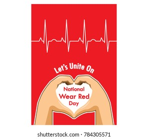 Vector design for national wear red day invitation