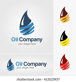 vector design of Oil and gas company logo.