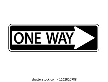 vector design of one way access only