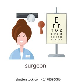 Vector design of ophthalmologist and woman logo. Set of ophthalmologist and procedure stock vector illustration.