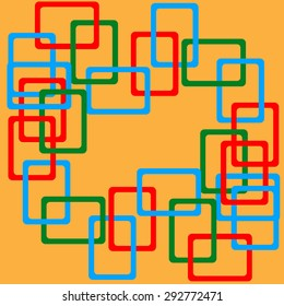Vector Design -  Overlapping Squares Concept Illustration