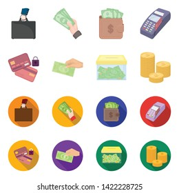 Vector design of payment and loan icon. Set of payment and financial stock vector illustration.