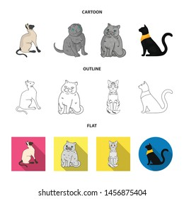 Vector design of pet and sphynx sign. Collection of pet and fun vector icon for stock.